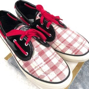 "Sperry ""Bahama"" Plaid/Patent/Sequined Boat Shoe"